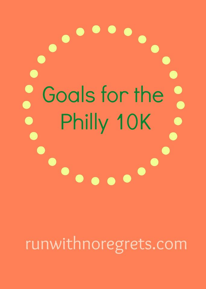 I'm sharing my goals for the 2nd annual Philly 10K! Will I be able to get a PR?
