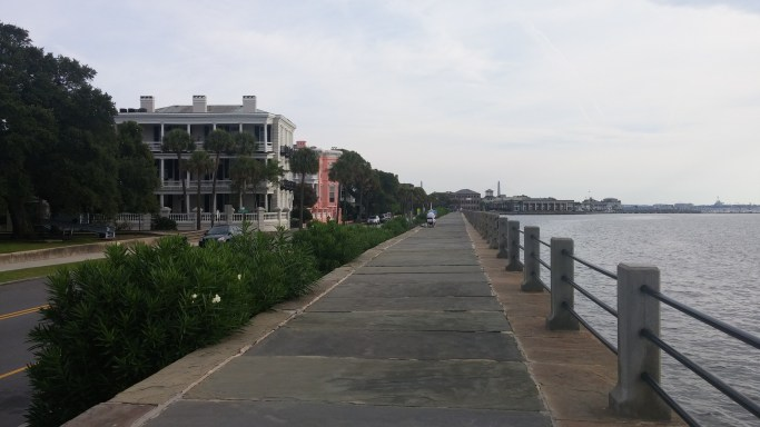 Loved running along the river and beautiful homes in Charleston!
