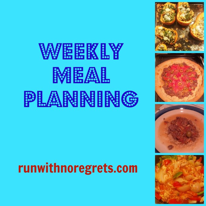 Check out my weekly meal planning, including healthy recipes!