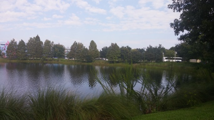 Hourglass Lake at the resort
