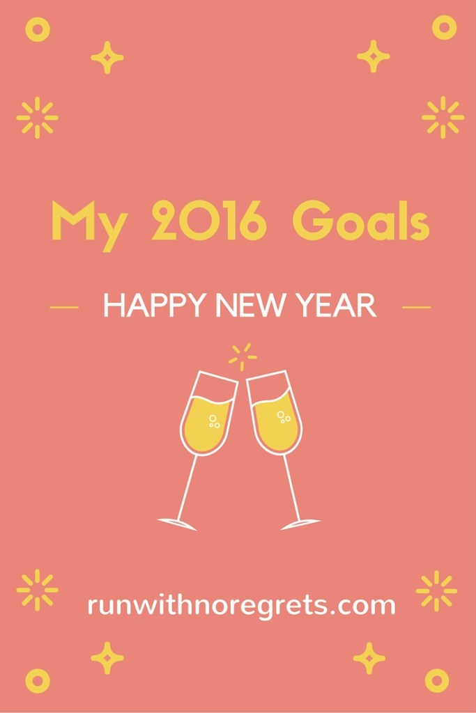 It's 2016 and we're hearing a lot about New Year's Resolutions...but I like to think more about my big goals for the year! What are your big plans for 2016? runwithnoregrets.com