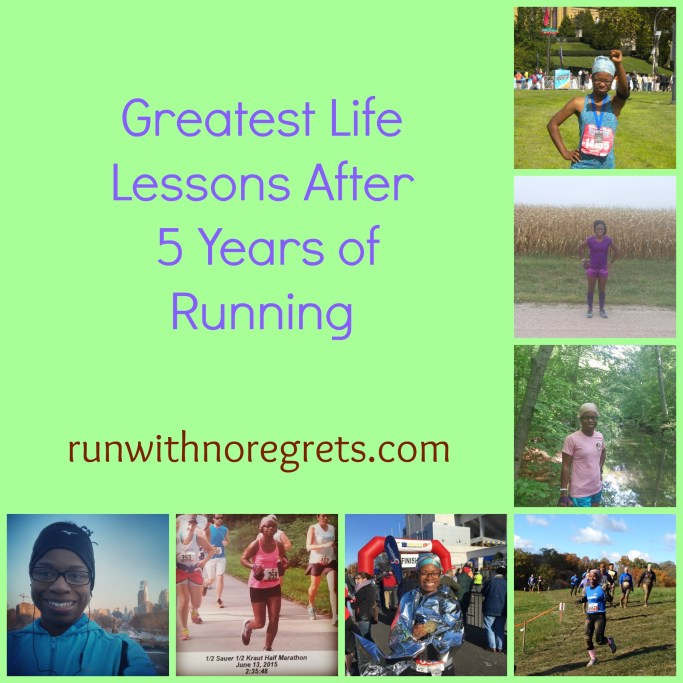 It's my 5 year running anniversary! And after 5 years, running has taught me so much about life. Find out the greatest lessons I've learned and more tips at runwithnoregrets.com
