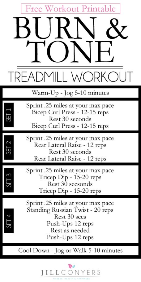 jill conyers treadmill workout