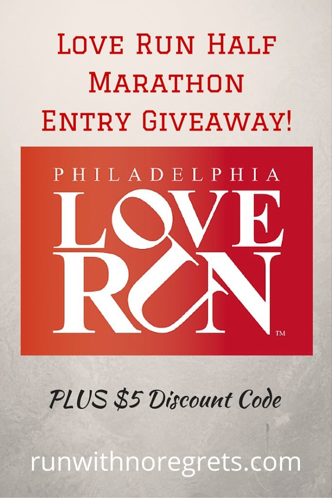 Want to run an awesome race in Philly this spring? I'm giving away a FREE race entry to the Love Run Half Marathon on April 10, 2016! Find out how you can win and get more running tips at runwithnoregrets.com!