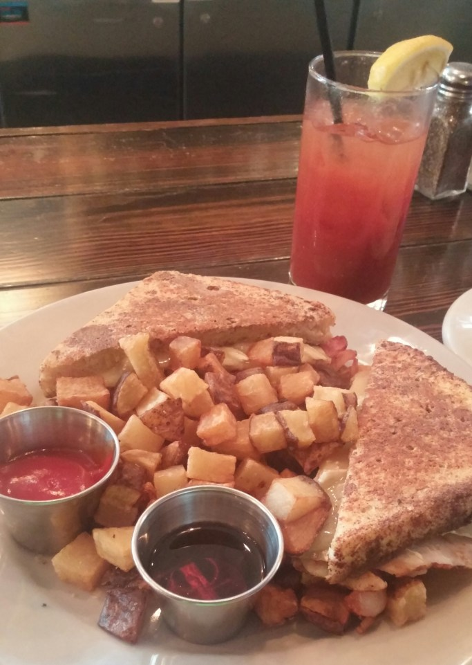 Monti Christo French Toast with a bloody mary