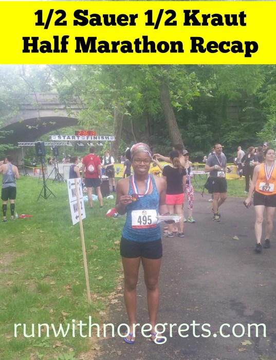 If you're looking for a fun but challenging race in Philly, check out the 1/2 Sauer 1/2 Kraut Half Marathon! I'm sharing my recap of this year's race - check it out and more race recaps at runwithnoregrets.com!