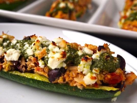 Grilled Mediterranean Zucchini Boats