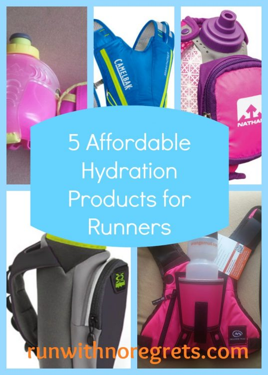 Are you looking for the best way to carry water with you on the run? Here's your guide to 5 affordable hydration products for runners! Get more resources for running at runwithnoregrets.com!