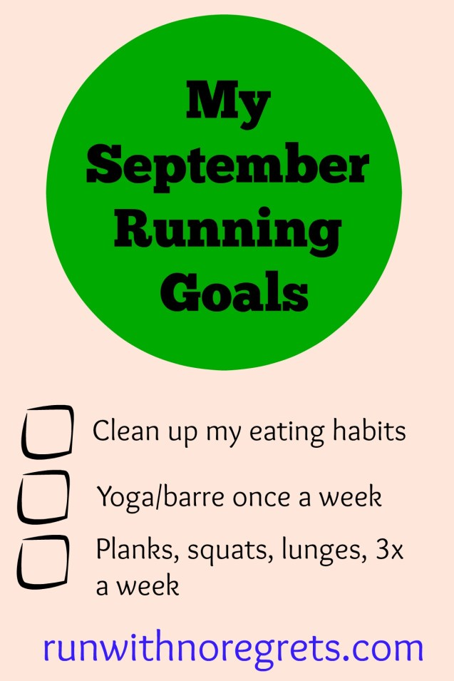 Sharing my running goals for September!