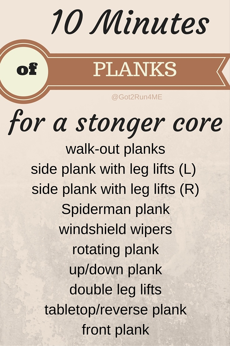10 Minutes of Planks from Running with Perseverance