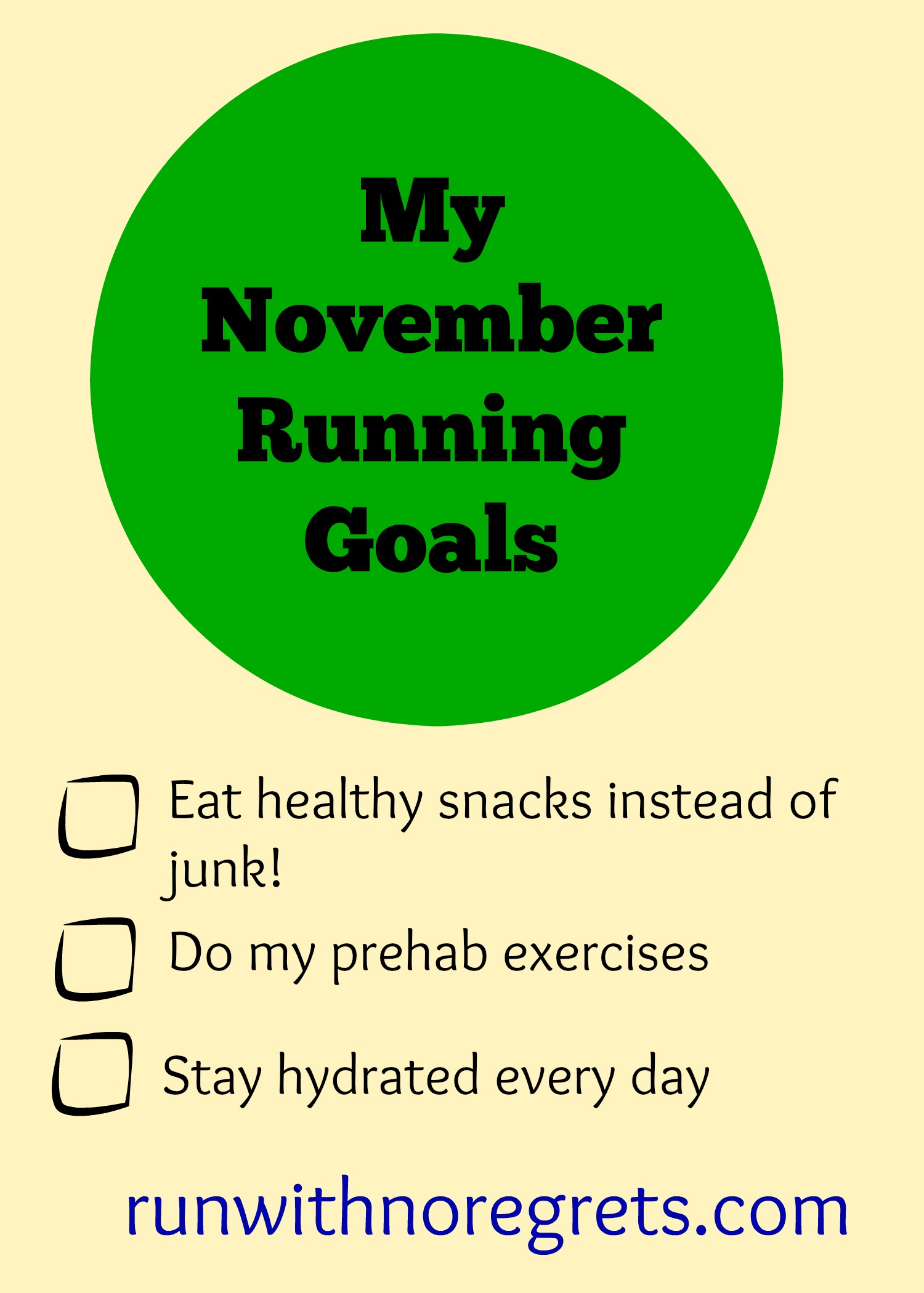 Do you keep track of your fitness goals for the month? In my latest post, I reflfect on October and look ahead to new goals in November! Check more running resources at runwithnoregrets.com!