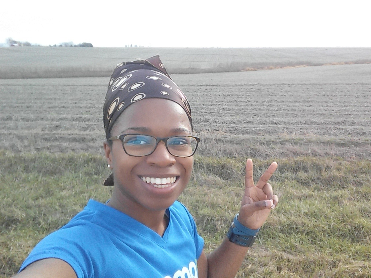 I always love running in Nebraska - this was from last Sunday!
