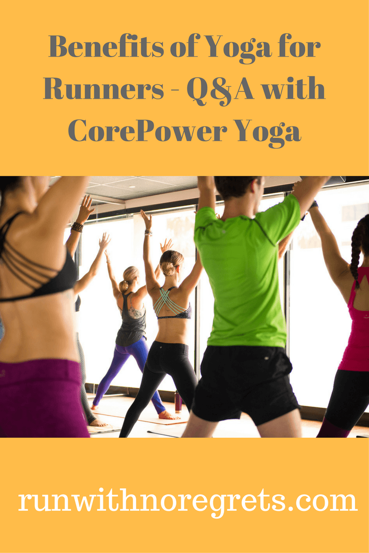 Are you a runner? Have you tried practicing yoga but don't know where to start! Check out this interview with CorePower Yoga and learn how yoga can benefit your fitness as a runner! Find more running tips at runwithnoregrets.com!