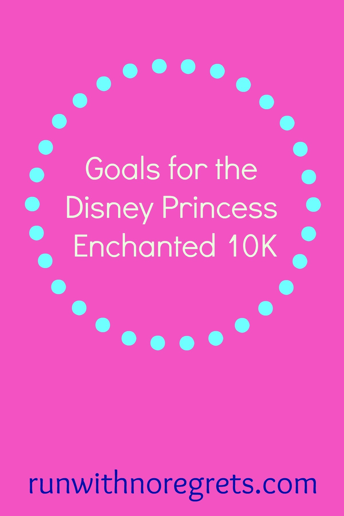 For the first time, I'm doing a runDisney event - Disney Princess! I'm sharing my goals for the Enchanted 10K - check it out and more race training at runwithnoregrets.com!