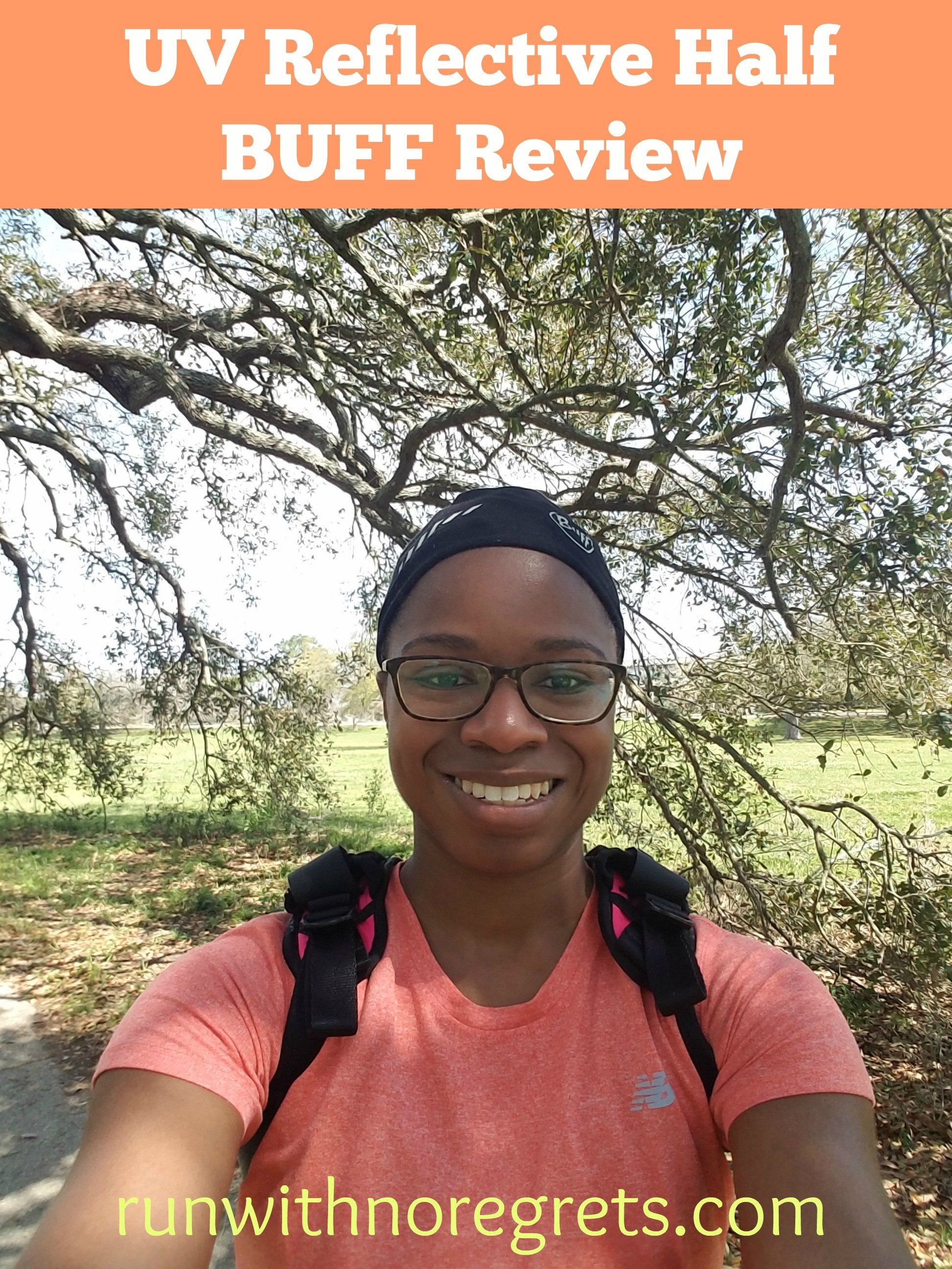 Check out my review of the UV Reflective Half BUFF - wear it while on the run, cycling, or working out in the gym! Find more product reviews at runwithnoregrets.com!