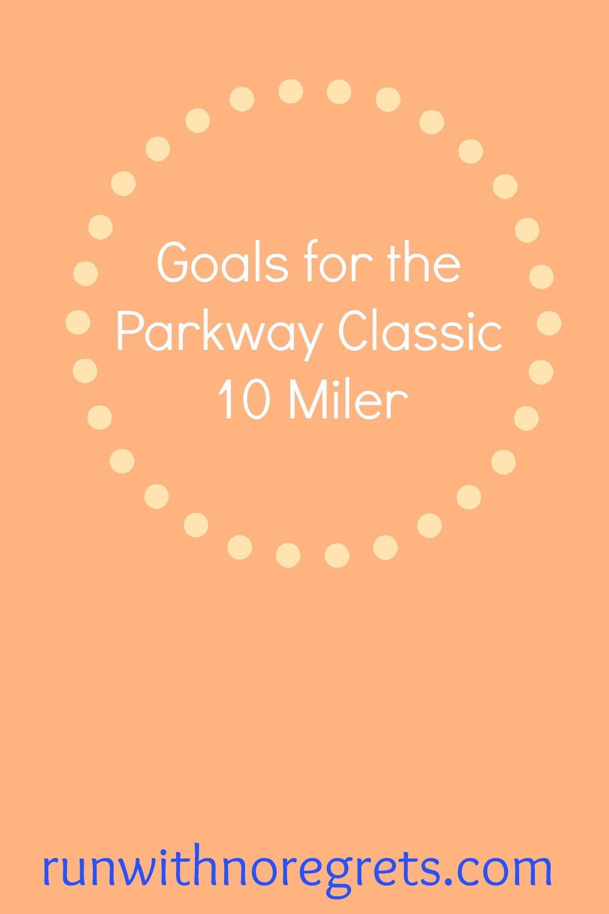 This weekend I'm running the George Washington Parkway Classic 10 Mile race in Alexandria, VA - I'm so excited! Check out my goals for the race and more running talk at runwithnoregrets.com!