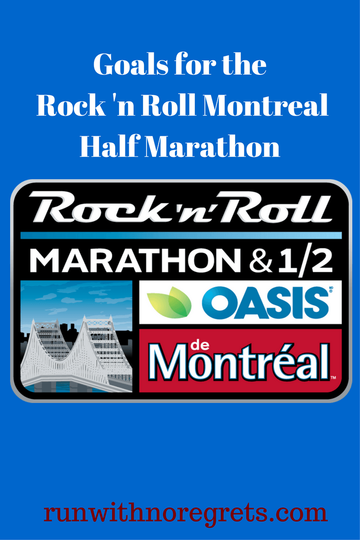 I'm so excited to be running my first international race - the Rock 'n Roll Montreal Half Marathon! I'm sharing my goals for my first half marathon this fall! Check out more run talk at runwithnoregrets.com!