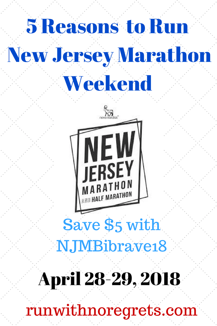 Looking for a great race? Check out the 5 reasons you should sign up for the New Jersey Marathon in April! Save $5 on registration with code NJMBibrave18! #running #newjerseymarathon
