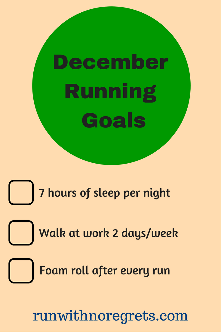 I'm sharing my running and fitness goals for the month of December! Find more running talk at runwithnoregrets.com!