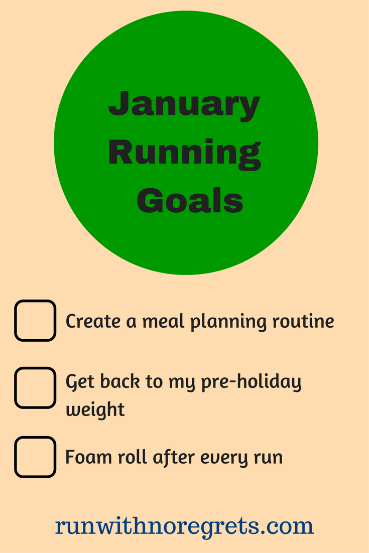 I'm sharing my running and fitness goals for January 2018!  What are your goals for the month?  Chat about running with me at runwithnoregrets.com! #running #fitness