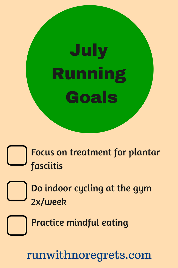 It's always great to set fitness goals and keep yourself accountable. Here are my running goals for July- check out more running fun at runwithnoregrets.com!