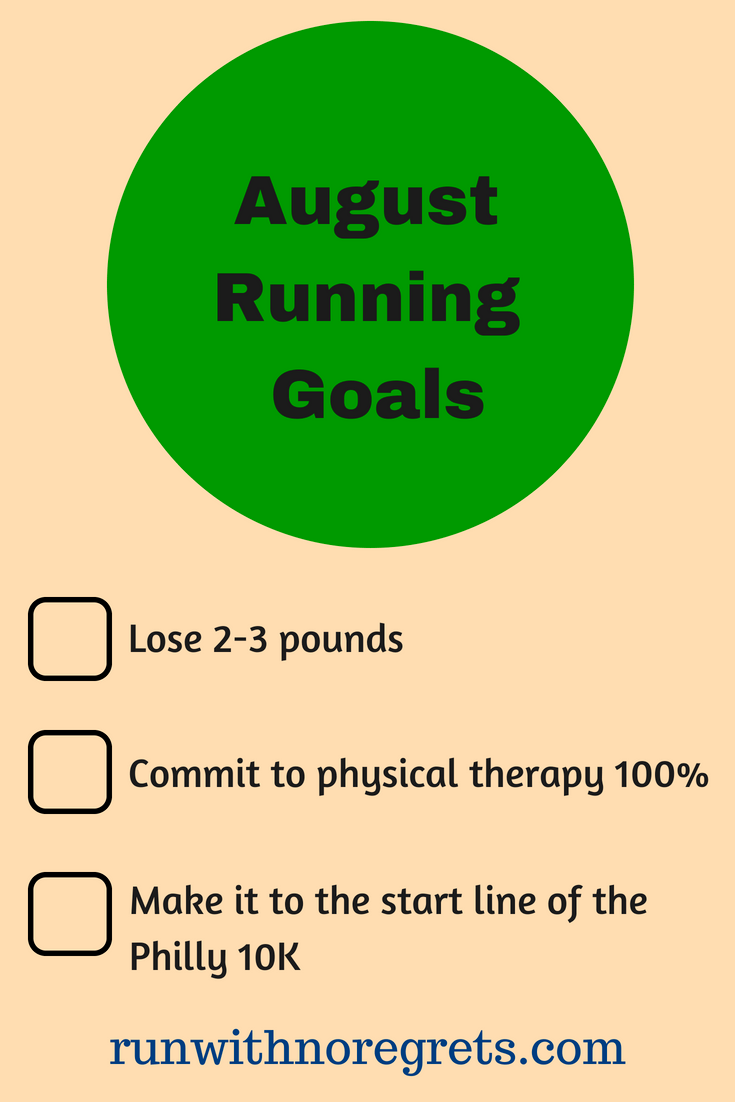 I'm sharing a recap of my running and fitness goals for July and how I plan to keep moving forward in August! Find more running chats at runwithnoregrets.com!