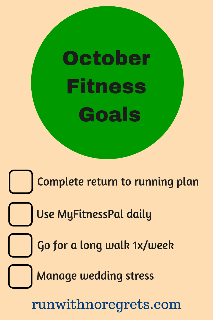 I'm sharing my fitness goals for the month of October! Check it out and more running and fitness chats at runwithnoregrets.com!