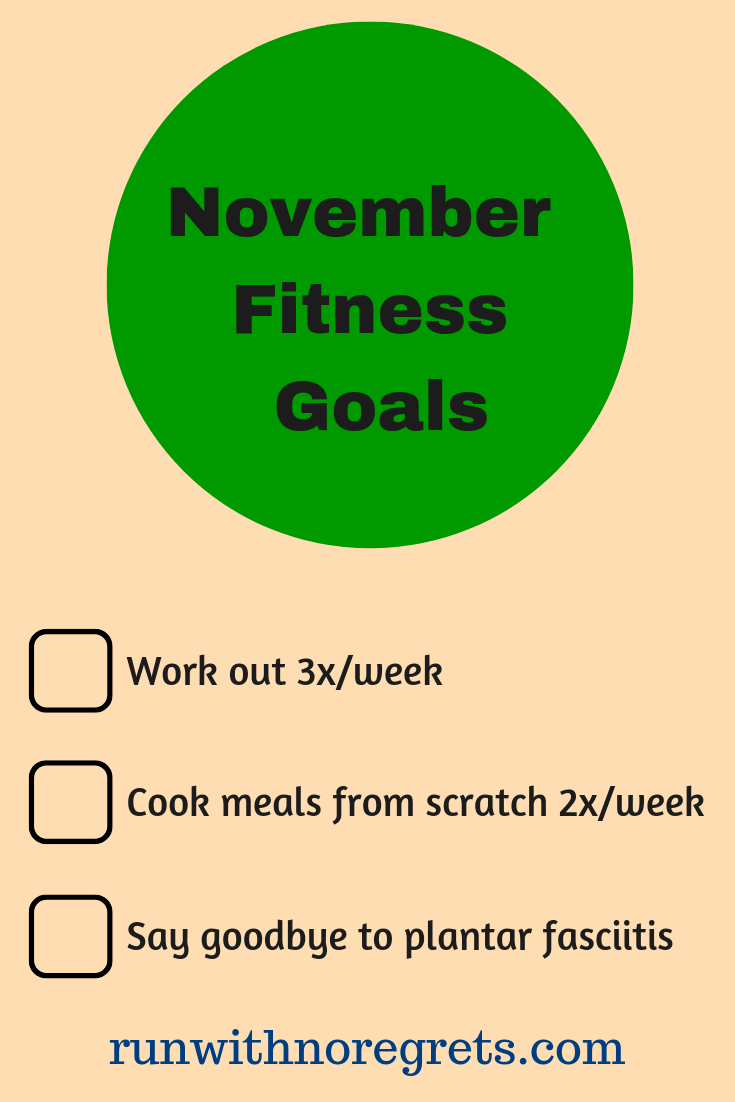 I'm sharing my fitness goals for the month of November! Check it out and more running and fitness chats at runwithnoregrets.com!