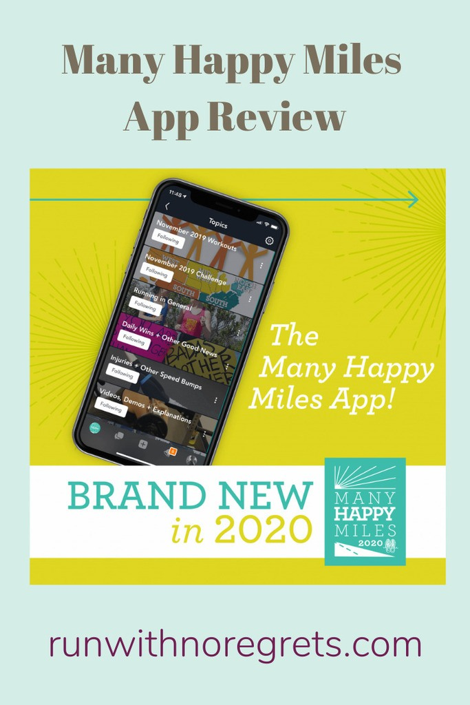 I'm sharing my review of the Many Happy Miles app, a great program from Another Mother Runner!  Find more running tips at runwithnoregrets.com!