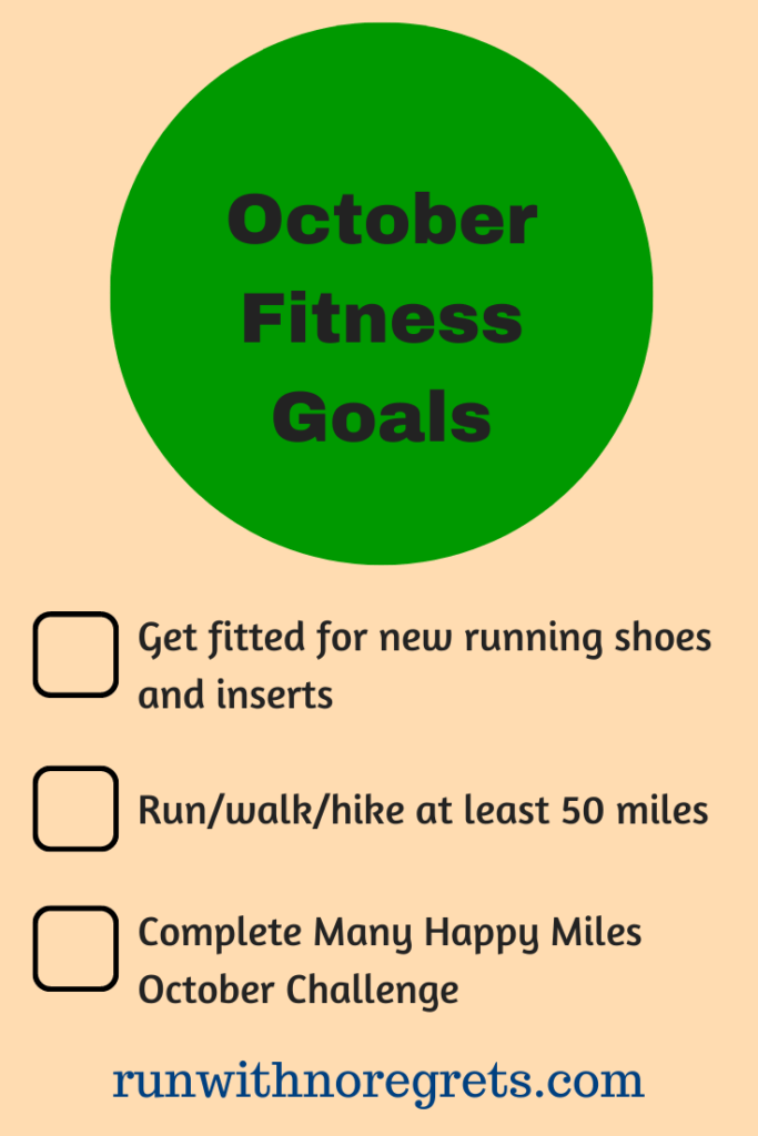 I'm sharing my 3 fitness goals for October to keep myself accountable!