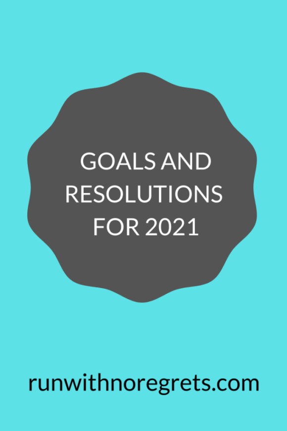 Who else is excited that 2020 is behind us?!  I'm sharing my goals and resolutions for 2021, including blogging, running and more!  Check out runwithnoregrets.com!