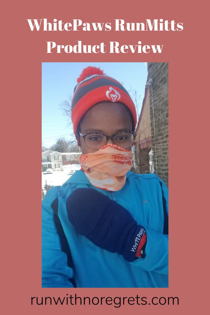 I'm sharing my review of the WhitePaws RunMitts convertible running mitten!  Check it out and find more product reviews at runwithnoregrets.com!