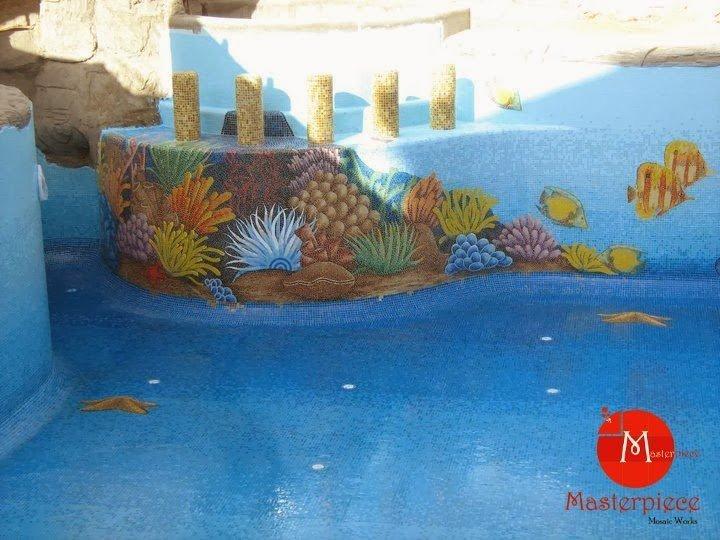 صورة رائعة تجمع بين فنين فن الموزاييك و فن الرسم ثلاثي الأبعاد