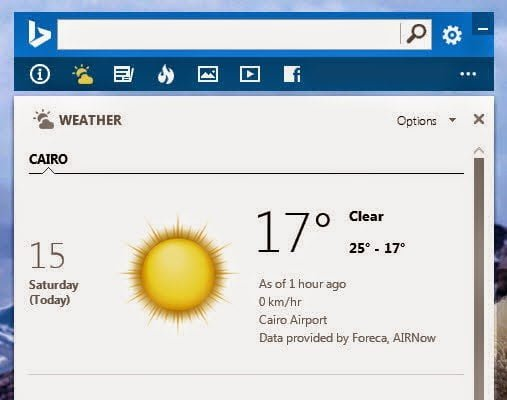 تطبيق متصفح بنق bing … إضافة لسطح مكتبك