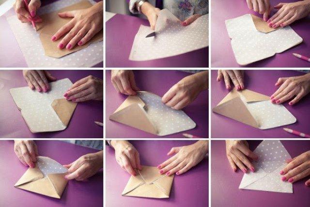 كيف تصنع ظرف من الورق بسيط وجميل - بالصور 7