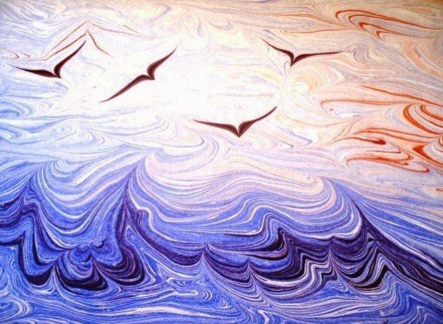 تعرف على الإبرو Ebru  أو فن الرسم على الماء ! 7