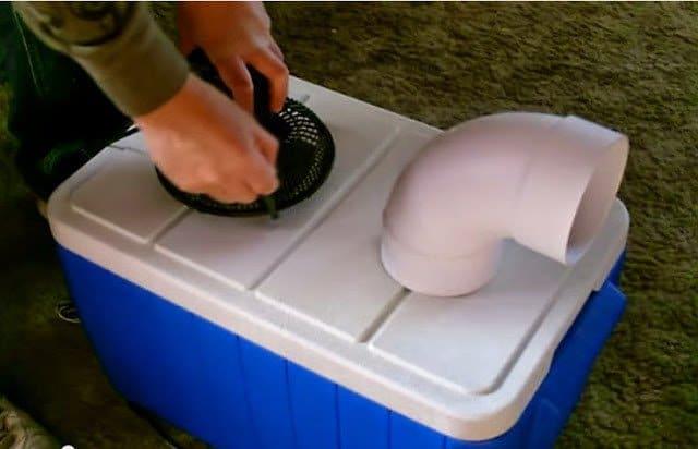 اصنع بنفسك مبرد أو مكيف هواء محمول بسيط يعمل بالثلج 2