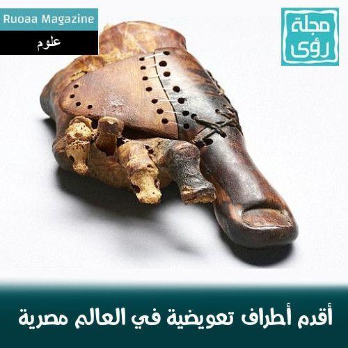دراسة : أقدم أطراف اصطناعية في العالم مصرية