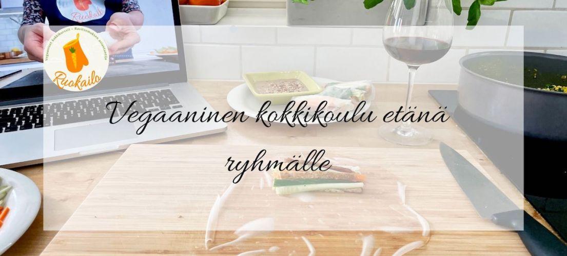 etä kokkikoulu kokkikurssi ruokakurssi etä-tykypäivä