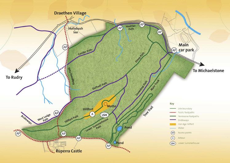 Map of Ruperra site