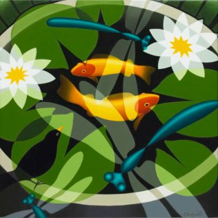 Goldfish and Dragonflies