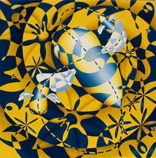 Bee Dance 36 x 36 ins Oil on Linen