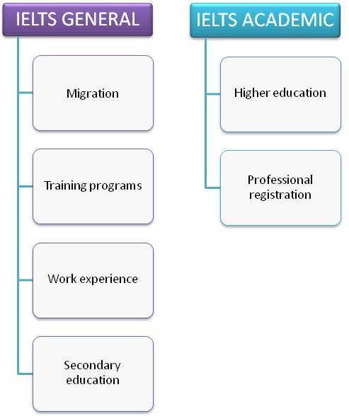 IELTS application diagram