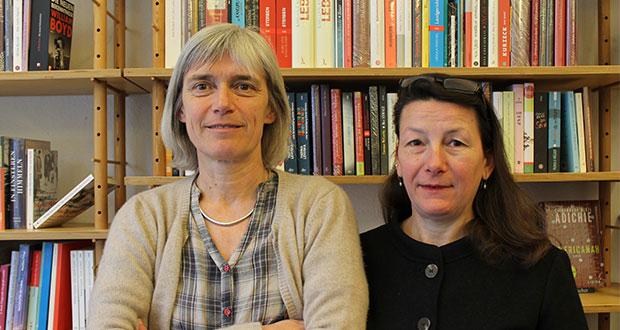 Christine Dreesen und Conni Bahmann in der Buchhandlung Himmelheber. Bild: Johanna Lübke