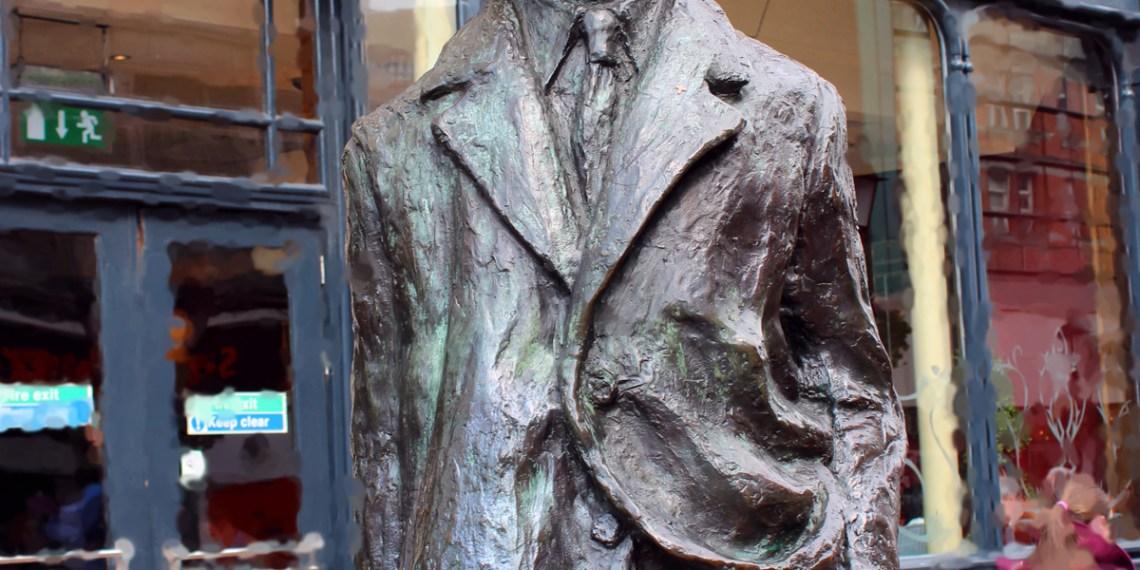 James Joyce wacht in der Dubliner Fußgängerzone. Foto: hlp