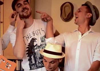 """""""Onkel Tom`s Hüte"""": Gregor, Gerrit, Benno, Niko und Tommy. Bild: Privat"""