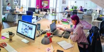 In den Coworkingspaces des Dezernat 16 finden junge Startups ein Zuhause. Foto: Eyal Pinkas