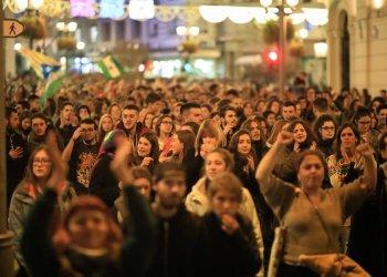Die andalusischen Studierenden gingen zahlreich auf die Straße. Foto: Carmen Navarro