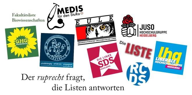 Der ruprecht fragt, die Listen antworten – StuRa Wahl 2019