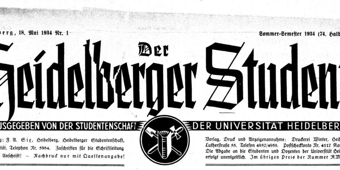 Der Heidelberger Student wurde von den Nationalsozialisten als Propagandaorgan missbraucht. Foto: https://digi.ub.uni-heidelberg.de/diglit/hdstud1929bis1938
